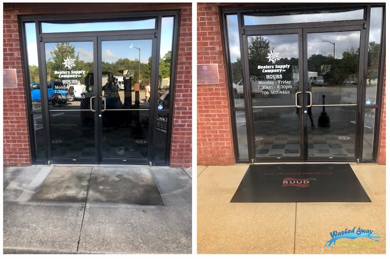 Commercial Storefront Window Cleaning and Concrete Cleaning in Columbus, GA