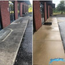 Commercial storefront window cleaning and concrete cleaning in columbus ga 3