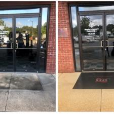 Commercial storefront window cleaning and concrete cleaning in columbus ga