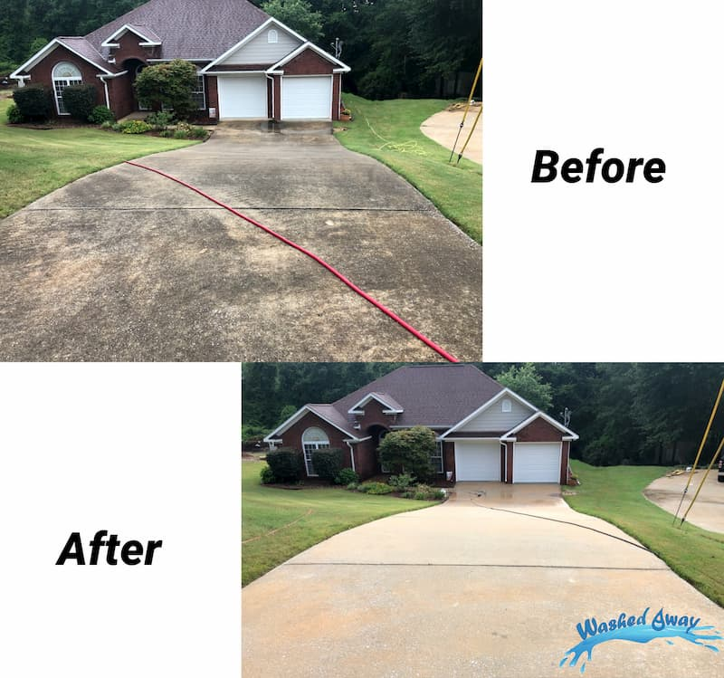 Concrete Driveway Cleaning on Lee Rd in Phenix City, AL