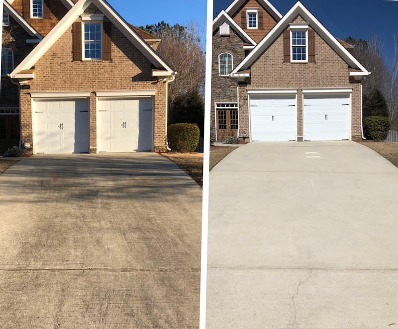 Driveway and concrete cleaning in auburn al